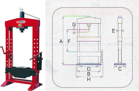 presses hydrauliques presse kstools presse 20 tonne. Black Bedroom Furniture Sets. Home Design Ideas